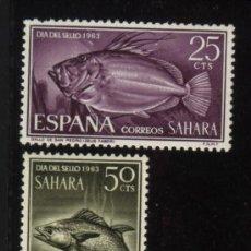 Sellos: S-5861- SAHARA. DIA DEL SELLO 1963. PECES. Lote 33978936