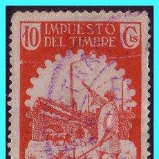 Sellos: MARRUECOS FISCALES, IMPUESTO DEL TIMBRE (AGRICULTOR), 10 CTS ROJO (O). Lote 25227581