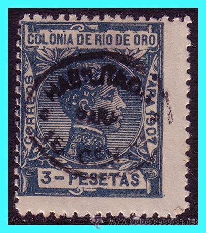 RÍO DE ORO 1911 ALFONSO XIII HABILITADO EDIFIL Nº 63 * * (Sellos - España - Colonias Españolas y Dependencias - África - Río de Oro)