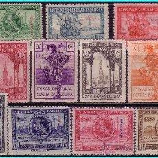 Sellos: FERNANDO POO 1929 EXPOSICIONES DE SEVILLA Y BARCELONA, EDIFIL Nº 168 A 178 * *. Lote 25299597
