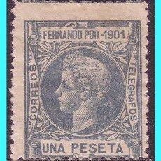 Sellos: FERNANDO POO 1901 ALFONSO XIII, EDIFIL Nº 104 *. Lote 25777324
