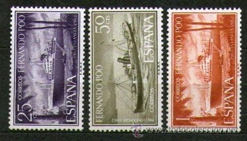 LOTE DE 3 SELLOS NUEVOS DE LA COLONIA DE FERNANDO POO - PRO INFANCIA - AÑO 1962. (Sellos - España - Colonias Españolas y Dependencias - África - Fernando Poo)