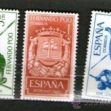 Sellos: LOTE DE 3 SELLOS NUEVOS DE LA COLONIA DE FERNANDO POO - DÍA DEL SELLO - AÑO 1965.. Lote 25832197