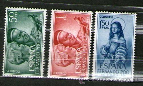 LOTE DE 3 SELLOS NUEVOS DE LA COLONIA DE FERNANDO POO - PRO INFANCIA - AÑO 1966. (Sellos - España - Colonias Españolas y Dependencias - África - Fernando Poo)