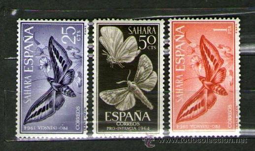 SAHARA ESPAÑOL: LOTE DE 3 SELLOS NUEVOS - PRO INFANCIA - AÑO 1964 (Sellos - España - Colonias Españolas y Dependencias - África - Sahara)