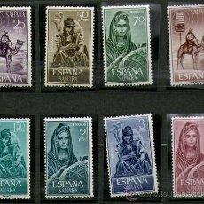 Sellos: SAHARA ESPAÑOL: LOTE DE 8 SELLOS NUEVOS - MÚSICOS INDIGENAS - AÑO 1964.. Lote 25924486
