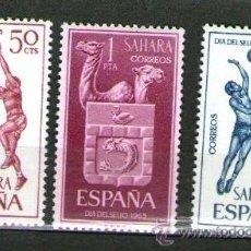 Sellos: SAHARA ESPAÑOL: LOTE DE 3 SELLOS NUEVOS - DÍA DEL SELLO - AÑO 1965.. Lote 25924612