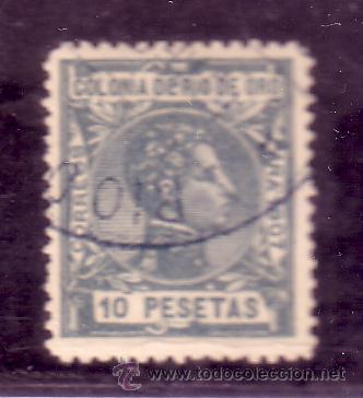 RIO DE ORO .- Nº 33 ALFONSO XIII MATASELLADO. (Sellos - España - Colonias Españolas y Dependencias - África - Río de Oro)