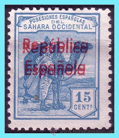 SAHARA 1931 SELLOS DE 1924, HABILITADOS, EDIFIL Nº 38AHH (*) (Sellos - España - Colonias Españolas y Dependencias - África - Sahara)