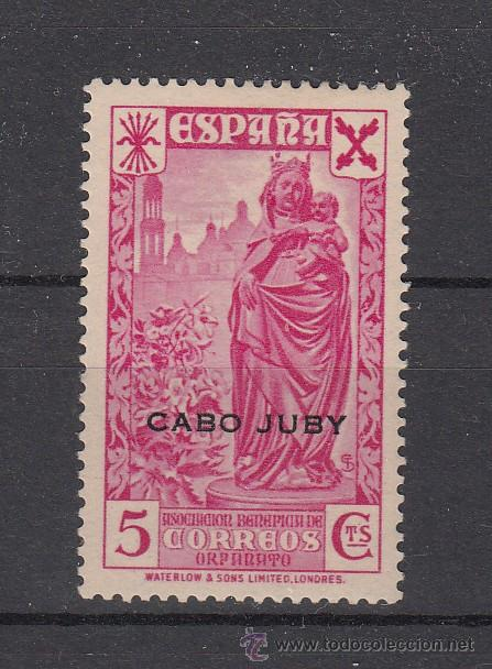,CABO JUBY BENEFICENCIA 1 CON CHARNELA, HISTORIA DEL CORREO (Sellos - España - Colonias Españolas y Dependencias - África - Cabo Juby)