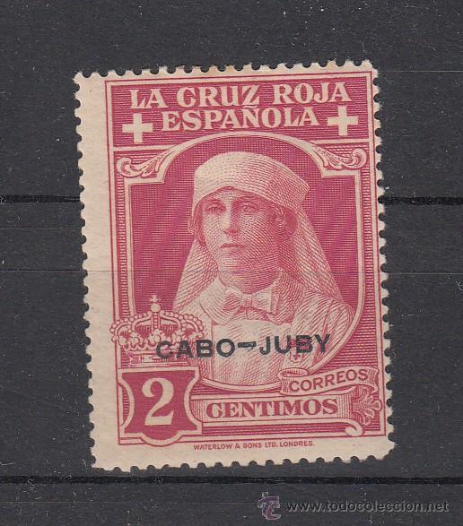 ,CABO JUBY 27 CON CHARNELA, CRUZ ROJA ESPAÑOLA (Sellos - España - Colonias Españolas y Dependencias - África - Cabo Juby)