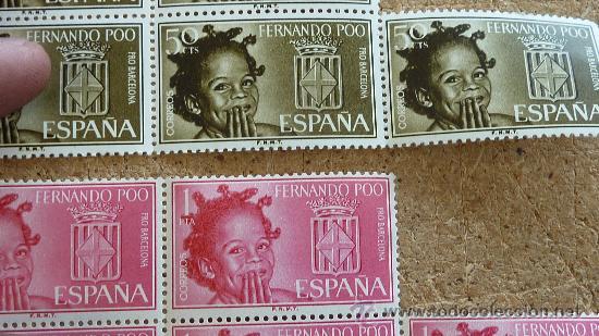 Sellos: Lote de sellos sin circular de Fernando poo con el escudo de barcelona. - Foto 2 - 27798015