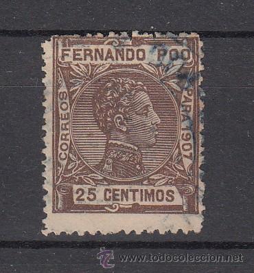 ,FERNANDO POO 159 USADA, ALFONSO XIII (Sellos - España - Colonias Españolas y Dependencias - África - Fernando Poo)