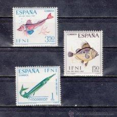 Sellos: ,IFNI 230/2 SIN CHARNELA, FAUNA, DIA DEL SELLO, PECES,. Lote 40065866