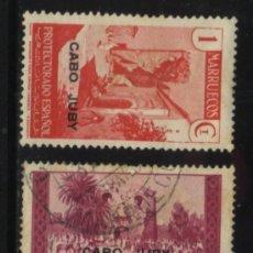 Sellos: S-3419- CABO JUBY. 1935-1936. SELLOS DE MARRUECOS SOBRECARGADOS.. Lote 27990188