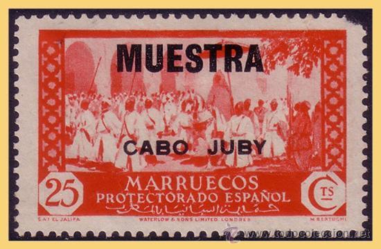 CABO JUBY 1935 SELLOS DE MARRUECOS HABILITADOS, EDIFIL Nº 73M * * MUESTRA (Sellos - España - Colonias Españolas y Dependencias - África - Cabo Juby)