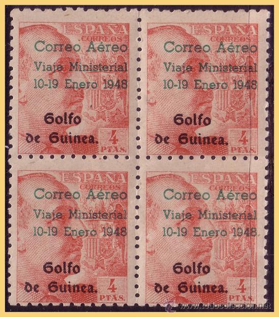 GUINEA 1948 SELLOS DE ESPAÑA HABILITADOS, EDIFIL Nº 272A * * B4 (Sellos - España - Colonias Españolas y Dependencias - África - Guinea)