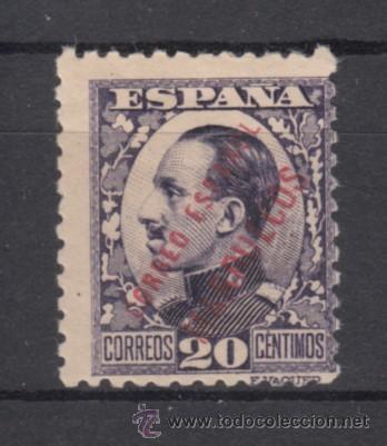 ,TANGER 66 CON CHARNELA, SOBRECARGADO, (Sellos - España - Colonias Españolas y Dependencias - África - Tanger)