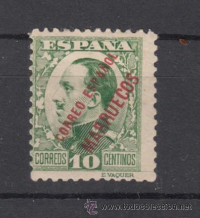 ,TANGER 64 CON CHARNELA, SOBRECARGADO, (Sellos - España - Colonias Españolas y Dependencias - África - Tanger)