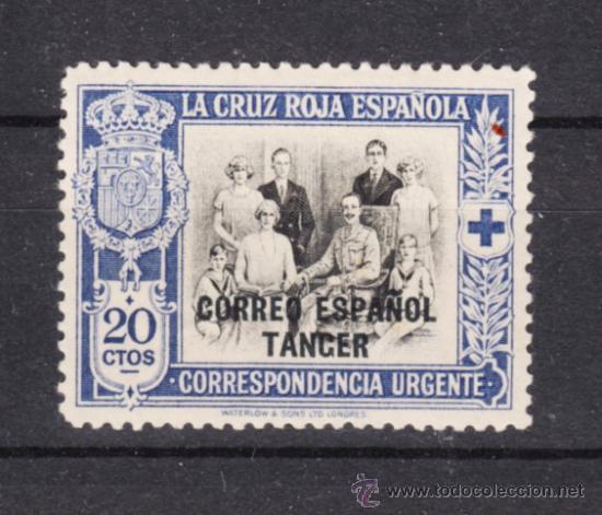 ,TANGER 36 SIN CHARNELA, CRUZ ROJA, SOBRECARGADO, (Sellos - España - Colonias Españolas y Dependencias - África - Tanger)