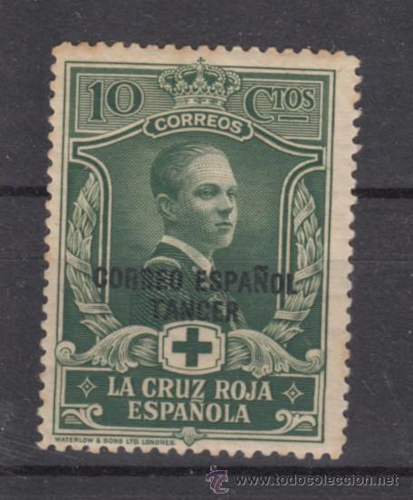 ,TANGER 26 SIN CHARNELA, CRUZ ROJA, SOBRECARGADO, (Sellos - España - Colonias Españolas y Dependencias - África - Tanger)