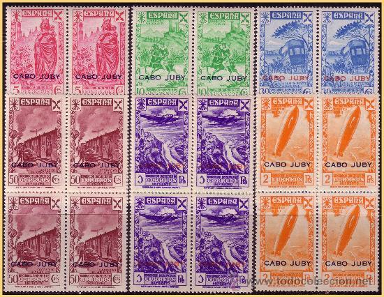 CABO JUBY BENEFICENCIA 1943 Hª DEL CORREO HABILIITADOS, B4 EDIFIL Nº 12 A 17 * * (Sellos - España - Colonias Españolas y Dependencias - África - Cabo Juby)