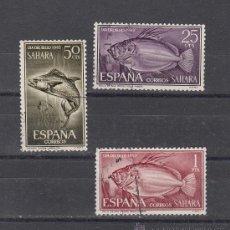 Sellos: ,SAHARA 222/4 USADA, DIA DEL SELLO, FAUNA, PECES,. Lote 28378068