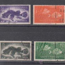 Sellos: ,SAHARA 108/11 USADA, DIA DEL SELLO, FAUNA, PECES, CABRACHO, SARGO, . Lote 58548637