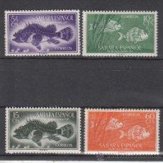 Sellos: ,SAHARA 108/11 SIN CHARNELA, DIA DEL SELLO, FAUNA, PECES, CABRACHO, SARGO, . Lote 50751600