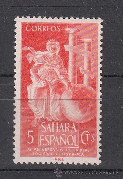 ,SAHARA 101 CON CHARNELA, ALEGORIA, (Sellos - España - Colonias Españolas y Dependencias - África - Sahara)