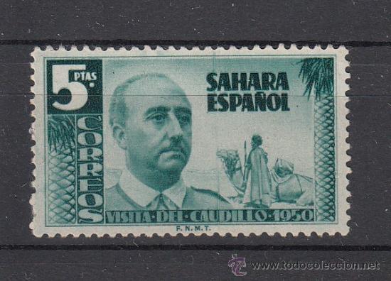 ,SAHARA 90 SIN GOMA, VISITA DEL GENERAL FRANCO, (Sellos - España - Colonias Españolas y Dependencias - África - Sahara)