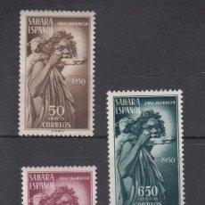 Sellos: ,SAHARA 83/5 CON CHARNELA, PRO INDIGENA, . Lote 54587443