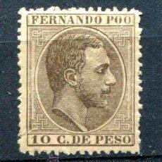 Sellos: EDIFIL 8. 10 CTS DE PESO . AÑOS 1882-89. NUEVO CON FIJASELLOS.. Lote 28461288