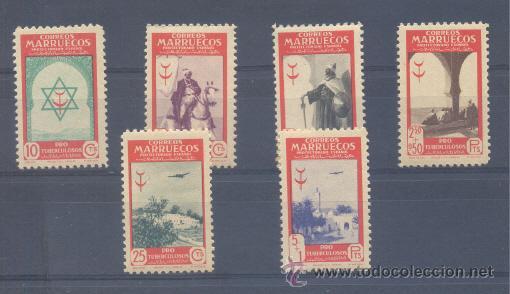 """EDIFIL 291/96 ** """" PRO TUBERCULOSOS"""" (Sellos - España - Colonias Españolas y Dependencias - África - Marruecos)"""