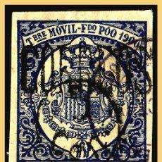 Sellos: FERNANDO POO 1900 TIMBRE MÓVIL HABILITADOS, EDIFIL Nº 48A (O) . Lote 28622579