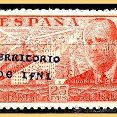 Selos: IFNI 1941 JUAN DE LA CIERVA, EDIFIL Nº 15J *. Lote 28661527