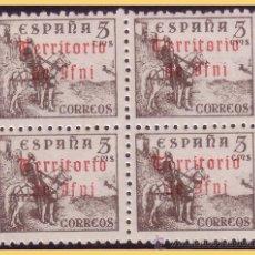 Sellos: IFNI 1948 SELLOS DE ESPAÑA HABILITADOS, B4 EDIFIL Nº 38 * * . Lote 28667733