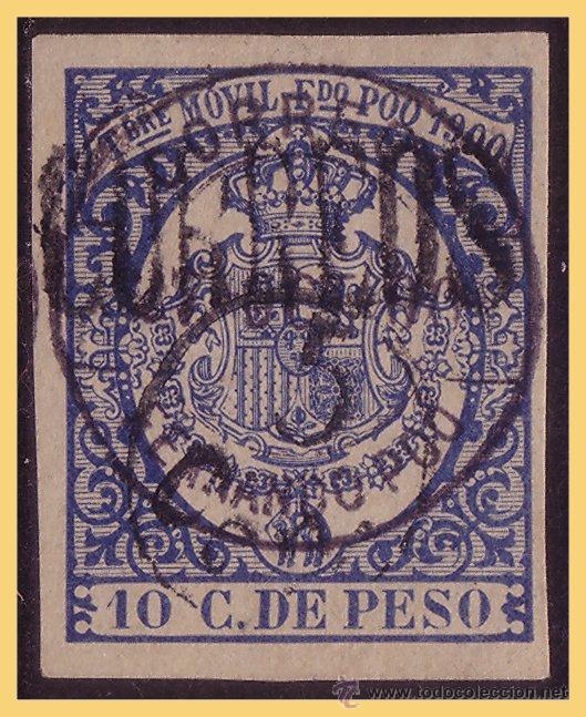 FERNANDO POO 1900 PÓLIZA HABILITADA PARA CORREOS, EDIFIL Nº 48A (O) (Sellos - España - Colonias Españolas y Dependencias - África - Fernando Poo)