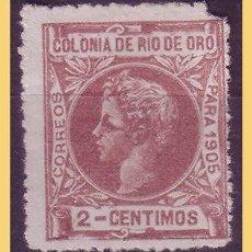 Selos: RIO DE ORO 1902 ALFONSO XIII, EDIFIL Nº 2N (*). Lote 28716392