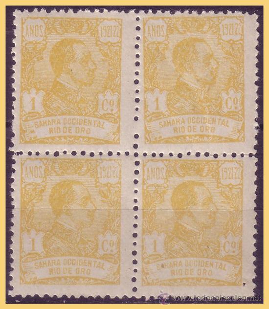 RIO DE ORO 1921 ALFONSO XIII, B4 EDIFIL Nº 130 * * (Sellos - España - Colonias Españolas y Dependencias - África - Río de Oro)