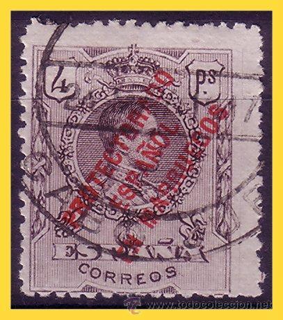 CABO JUBY 1917 SELLOS DE MARRUECOS, EDIFIL Nº 4M (O) (Sellos - España - Colonias Españolas y Dependencias - África - Cabo Juby)