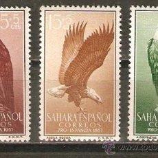 Sellos: ESPAÑA SAHARA EDIFIL NUM. 139/41 * SERIE COMPLETA CON FIJASELLOS. Lote 48975344