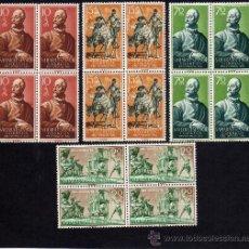 Sellos: PRO INFANCIA - 1958 - SAHARA - EDIFIL 149-52 - BLOQUE DE CUATRO - NUEVOS.. Lote 183500141