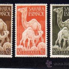 Sellos: DIA DE SELLO - 1951 - SAHARA - EDIFIL 90-92 - NUEVOS. Lote 29272164