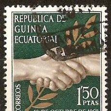 Sellos: REPUBLICA GUINEA ECUATORIAL NUM. 2 USADO . Lote 29810791