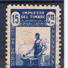 Sellos: MARRUECOS OCUPACION ESPAÑOLA 15 CTS IMPUESTO DEL TIMBRE PROTECTORADO. Lote 29902492