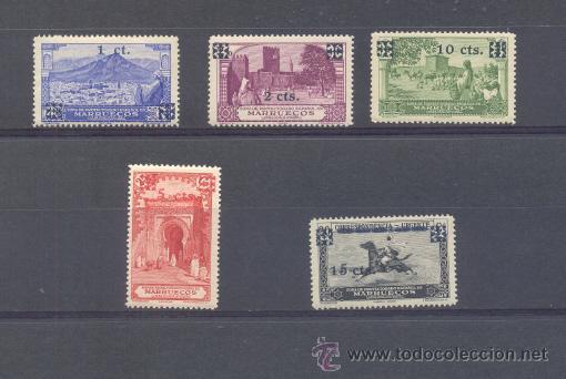 MARRUECOS. EDIFIL 162/66 ** (Sellos - España - Colonias Españolas y Dependencias - África - Marruecos)