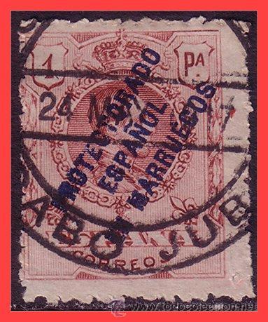 CABO JUBY 1917 SELLOS DE MARRUECOS, EDIFIL Nº 4L (O) (Sellos - España - Colonias Españolas y Dependencias - África - Cabo Juby)