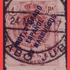 Sellos: CABO JUBY 1917 SELLOS DE MARRUECOS, EDIFIL Nº 4L (O). Lote 31405599