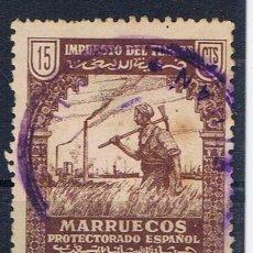 Sellos: MARRUECOS PROTECTORADO ESPANOL USADO 15 CTS IMPUESTO DEL TIMBRE NUMERADO MATASELLO TETUAN. Lote 32082094